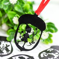 Wholesale Creative Cartoon Pinocchio Alice Metal Bookmark Clips With Lanyard For Book Paper Kids Gift Korean Stationery