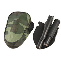 snow shovel - 4 in Army Folding Shovel Spade Steel Emergency Foldable Entrenching Car Scoop Snow