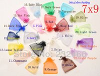 Wholesale Random Mix Colors Jewelry Packing Drawable Organza Bags x9cm Wedding Gift Bags Pouches