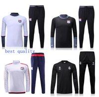 best men s suit - best quality Lyon Olympique soccer tracksuit Lyonnais football Survetement skinny pants Chandal futbol sweatshirt training suit