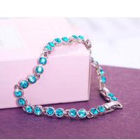 Brazalete de diamantes checo de alta calidad con elementos de Swarovski diamante único brazalete de cristal de señora exquisita pulsera de cristal