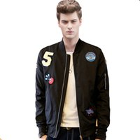 baseball varsity jackets for men - Winter US Air Force one Flying Wadded jacket Embroidery Thicker varsity bomber MA1 pilot flight Coat for Men Baseball Outerwear