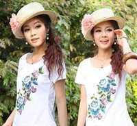 Wholesale Summer wear the new national costumes reduction three short sleeve manufacturers selling