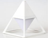 Wholesale Modern simple fashion creative lamp metal pyramid eye protection three dimensional USB charging LED waterproof touch