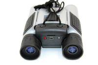 al por mayor telescópica ocultó-DIGITAL BINOCULARS CAMERA Lente telescópica 5X Spy Telescope cámara de vídeo de la cámara PC Cam BINOCULARES Ocultos cámara de seguridad negro en la venta al por menor