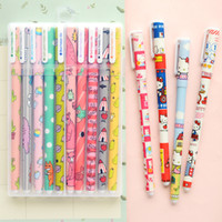 Wholesale Color gel pens box pack Cute animal Star Hello Kitty Sweet Cartoon pen Stationery Office accessories school supplies