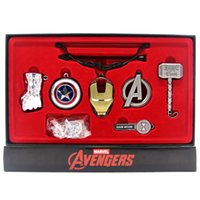 accessoires avengers achat en gros de-Avengers Weapons Collection Thor Iron Man Superman Black Widow Captain America Hulk Figurines d'action Avengers Weapons Collection Toys