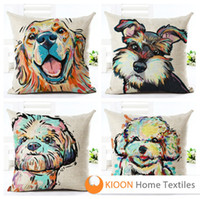 Wholesale Top Finel Dog Printed Decorative Throw Pillows Case Throw Pillow Case Home Decor car seat cush A wide variety of styles to choose