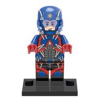 atom piece - Single sale one piece superheroes Marvel Atom Minifigures sets bricks building blocks Models Baby Kid legoe toys