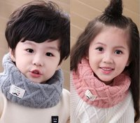bib wool scarf - Autumn and winter new diamond children s bibs boys and girls baby fashion wild beard wool scarf scarf