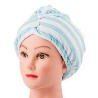 Wholesale Magic Quick Dry Microfiber Hair Towel Hair drying Ponytail Holder Cap Towel Lady Microfiber Hair Towel hat cap Multicolor High quality