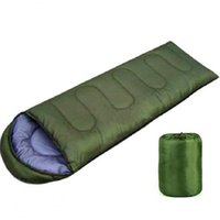 Wholesale Multifuntional Outdoor Thermal Sleeping Bag Envelope Hooded Travel Camping Keep Warm Resistant Sleeping Lazy Bags