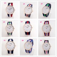 Wholesale HOT Top Brand Luxury Style D W Watches Daniel Watch For Men Women Nylon Strap Military Quartz Wristwatch A075