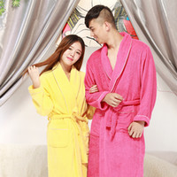 Wholesale Bathrobe Women Chritmas Pajamas Hotel SPA Plus Robes Pajamas for Women Nightgown Man Women s Sleepwear Bath Towels