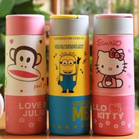 Wholesale Creative jingle double mouth monkey KT glass tea cup cup mobile children are small yellow people