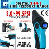 Wholesale E04 Digital in Tire Pressure Gauge Tire Veins Depth PSI Accuracy Backlight