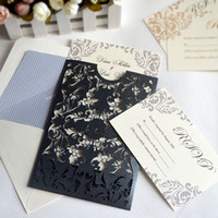 Wholesale Hand work blank wedding greeting cards and envelopes engraved cards