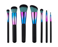 Nouveau 7pcs pinceau de maquillage coloré ensemble pinceau de maquillage coloré 7 PCS outil de pinceau de maquillage