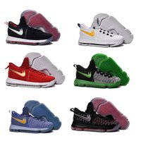 18 Color Air Zoom KD 9 Chaussures de basket-ball pour hommes KD9 Oreo Loup gris Kevin Durant 9s Sports pour hommes Sports Sneakers Warriors Accueil US Taille 7-12
