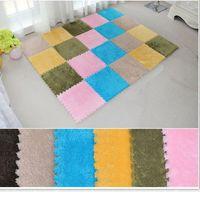 Wholesale 8Pcs x30cm Puzzle carpet baby play mat floor puzzle mat EVA children foam carpet mosaic floor suede baby crawl mat