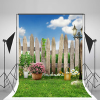 Wholesale Blue Sky Backdrop Green Natural Scenery Photo Background Spring Photography Backdrops for Easter Photographic Backgrounds