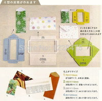 Wholesale NEW Retro Zakka Style wood envelope template Manual stencil mould make different size envenlops