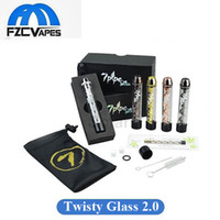 Wholesale 7pipe Twisty Glass Blunt Pipe V2 Kit with Removable Top Cap and Filter Better Airflow Twist Me Vapor Clone