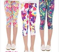 Wholesale hot summer baby girls leggings tights pants new kids new girls leggings flowers floral print pants leggings children trousers cm