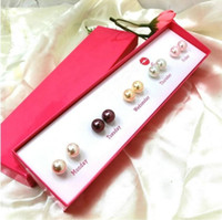 Wholesale Hot Sell Mix Colors High Quality Pearl Earrings Double Stud Earrings Double Pearl Stud Earrings for Women