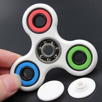 PVC multi color fidget spinner - Multi Color Triangle Gyro Finger Spinner Fidget Plastic EDC Hand For Autism ADHD Anxiety Stress Relief Focus Toys Gift Styles