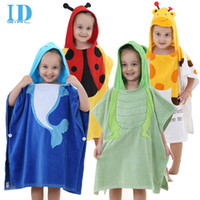 baby shorts modeling - IDGIRL Baby Bathrobes Cotton Hooded Animal Modeling Children Bathrobe Cartoon Baby Towel Year Kid Spa Towels YE0014