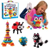 art puff - Puff Balls Mega Pack Pet Bug Creation Pack Kids Art Craft Toy Bundle Assemble Puzzle Building Toys Creative Learning