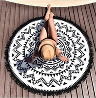 Wholesale NEW Round Mandala Beach Towels Printed Tapestry Hippy Boho Tablecloth Bohemian Beach Towel Serviette Covers Beach Shawl Wrap Yoga free DHL