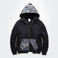 big camouflage clothing - 2017 Autumn winter Shark mouth hoodie monster big logo camouflage ture brand coat sweatshirts top mens designer clothes plus size XL