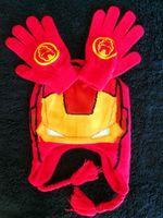 Precio de Guantes de manopla-Los guantes del sombrero del muchacho del estilo de Ironman de las nuevas llegadas fijaron las manoplas de los niños del invierno de la Navidad