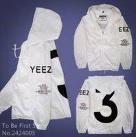 Wholesale YEEZUS Jacket Men Kanye West Y Windbreaker Brand MA1 Hip Hop Coaches Hooded Jackets Double Thick off White Black Coat Men