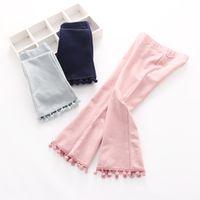 bell tassels - Hug Me Girls Pants for Kids Clothing New Spring Tassels Trousers Fashion Bell Bell Bottoms Long Pants ER