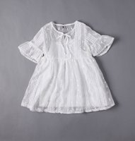 baby wheat - Baby Girls Lace tutu Dresses Kids Girls Embroidered Wheat Princess Dress Girl Summer Flare Sleeve Dress children s clothing