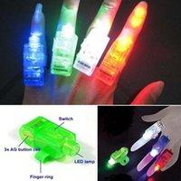 Laser conduit doigts France-LED lumineux doigt anneau lumière laser doigt faisceaux LED cadeau d'éloge pour la danse de danse mariage bar décoration cadeau de Noël mélange ordonner