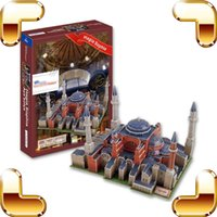Wholesale New Year Gift Hagia Sophia Church D Puzzle Paper Building Box Puzzle Scrable Game Puzzle DIY Fun For Fans Collection Toy