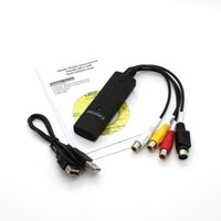 Wholesale Easycap USB Audio Video VHS to DVD Converter Capture Card Adapter for Win7