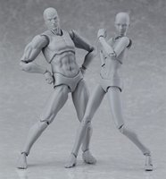 action drawing - figma archetype next he she gray color ver PVC Action figure mm anime toys body chan DIY Drawing sketch