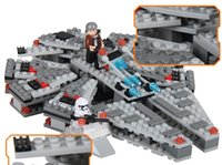 Wholesale New styles Building Blocks The Force Awakens Millennium Falcon Model Kits Buildable Figures Compatible with