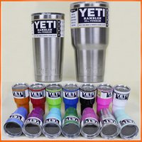 Wholesale Yeti Rambler Stainless Steel oz Tumblers Cars Beer Cups oz oz oz oz Large Capacity Tumblerful Mugs via DHL