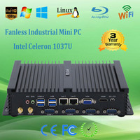Wholesale Low Power Fanless Industrial Computer Intel Celeron u Mini PC M Cache GHz Dual Lan Port VGA HDMI