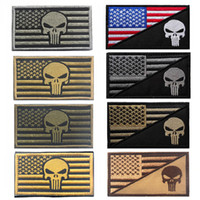 american flag sticker - 2016 American Texas Flag The Punisher Tactical USA Military Morale Swat Patch Army Gear Embroidered Badges Fabric Stickers