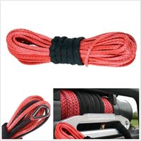 Wholesale 50 X1 quot Dyneema Synthetic Winch Rope Cable LBs ATV SUV Recovery Replacement