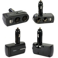 Wholesale New V USB Power Charger Supply Socket Car Cigarette Lighter Extender Splitter for iphone GS Plus for ipad