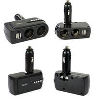 Wholesale New V USB Power Charger Supply Socket Car Cigarette Lighter Extender Splitter for iphone GS Plus for ipad