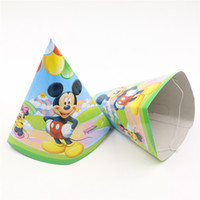 baby shower favors themes - Mickey Mouse Cartoon Theme Caps Happy Birthday Baby Shower Party Decoration Kids Favors Disposable Hats Supplies